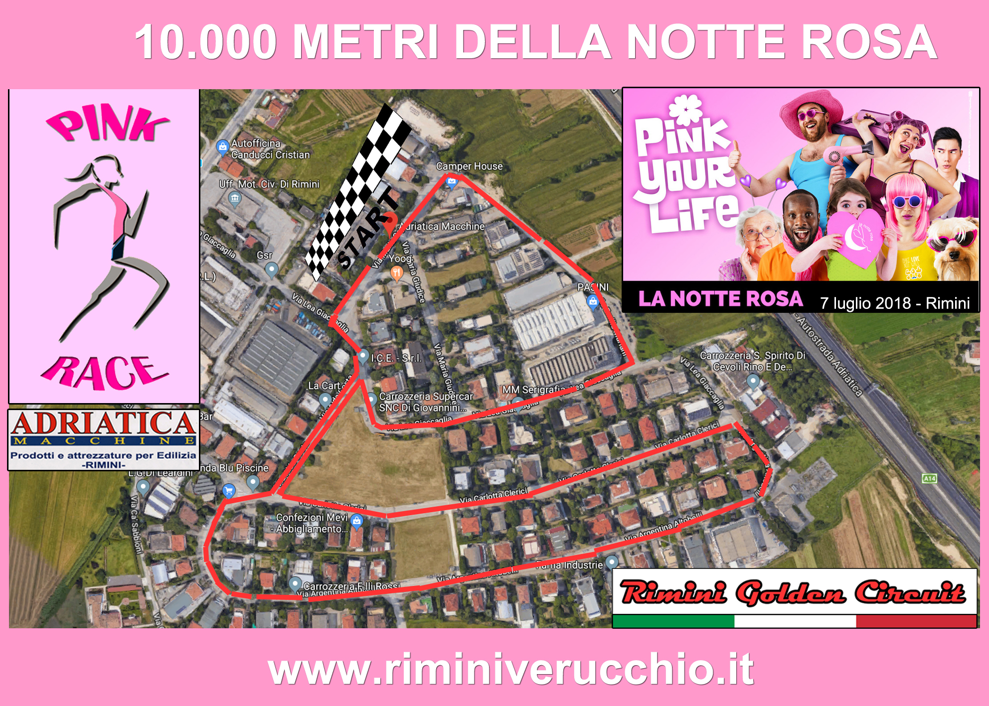 Pink Race - Percorso